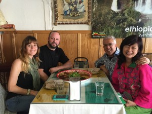 Clayton and Jessica introduced us to amazing Ethiopian food